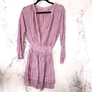 Rails striped dress cinched waist E20
